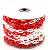 Цепь пластиковая красно-белая мин. заказ 25 м.п.