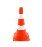 Конус сигнальный 0,6 м оранжевый c 2 светоотражающие полосы